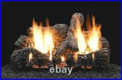 Empire White Mountain Charred Oak Ceramic Fiber Log Set, 4-pc, 24 Logs Only