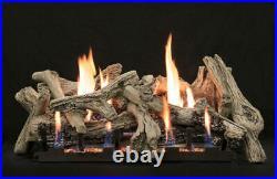 Empire White Mountain Driftwood Burncrete Log Set, 10-pc, 24 Logs Only