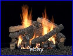 Empire White Mountain Ponderosa Log Set, 13-pc, 24 Refractory Logs Only