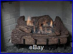 Everwarm 18 Palmetto Oak Log Set with Vent Free Manual Burner, LP Propane