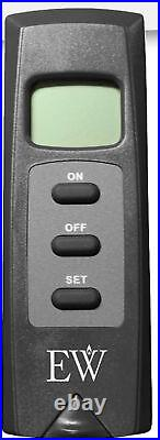 Everwarm Thermostat Remote with LCD Display Millivolt for Gas Fireplaces & Logs