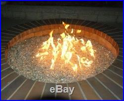 Exotic Glass 25-lb Crystal Reflective Tempered Glass Gas Fire Pit