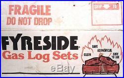 FYRESIDE GAS LOG FIREPLACE 18 LIVE OAK LOGS VENTED VINTAGE 1980s NOS REAL FYRE