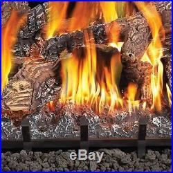 Fiberglow 18 Inch Log Burner Set Insert for Natural Gas Fireplaces (Open Box)