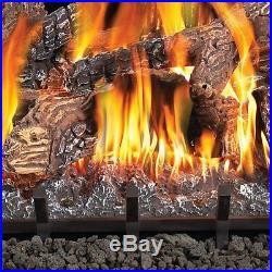 Fiberglow 18 Inch Vent Free Log Burner Set Insert for Propane Gas Fireplaces