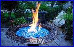 Fire Glass, Caribbean Mix, Blue, Gas Fire Pits, Gas Fireplace, Large Fireglass