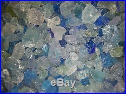 Fire Glass, Caribbean Mix, Blue, Gas Fire Pits, Gas Fireplace, Medium Fireglass