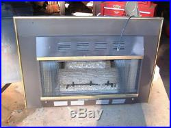 Fire Logs Gas Stove Heater Fireplace Natural Gas, 29000 BTU Unvented with Blower