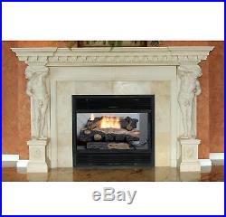 Fireplace Large Propane Gas Burner Ventless 24 Inch Heater Thermostat Log Insert