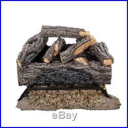 Fireplace Log 18 in. 50,000 BTU Split Vented Gas Glowing Embers Rustic