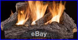 Fireplace Log Set 18in 50,000 BTU Split Vented Natural Gas Glowing Embers Rustic