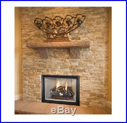 Fireplace Log Vented Natural Gas 24in Split Oak Glowing Ember Heating Realistic