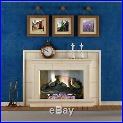 Fireplace Logs 24 Inch Vent Free Propane Gas 39000 BTU Remote Control Automatic