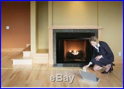 Fireplace Logs 30 in. Ventless Natural Gas Realistic Fire With Remote Control