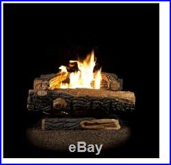 Fireplace Logs Vent Free Propane Gas with Thermostatic Control Oakwood 22.75 in