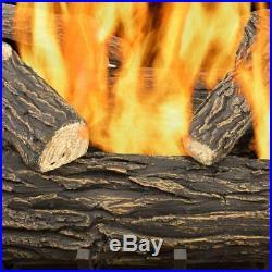 Fireplace Logs Vented Gas 30 in. Willow Oak 65,000 BTU Rustic Glowing Embers