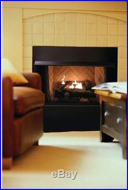 Fireplace Natural Gas Log Set Vent Free Fire Place Oak Wood Logs 24 Realistic