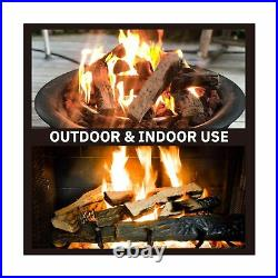 GASPRO Gas Fireplace Logs, 10 Piece Ceramic Fireplace Logs for All Types Fire