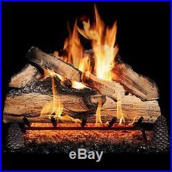 GasLogGuys 18Grand Mountain Split Oak Vented Nat. Gas logs+H burner+Remote