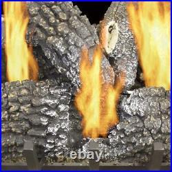 Gas Fireplace Log 45000BTU Dual Burner Vented Manual Control Modern Decorative