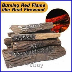 Gas Fireplace Logs10pcs Large Faux Firepit Logs Decorative Ceramic Wood Log S