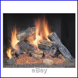 Gas Log Fireplace Set New Natural 18 Inch Stove Home Heating High Performance