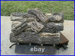GoPlus Ceramic Wood Gas Fireplace Imitation Propane Decorative Log Set 10 Pie