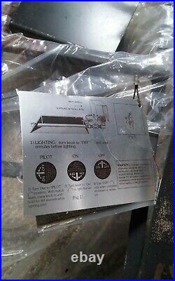 Golden Blount Natural Gas Fireplace With Majestic Logs Iron Grate Insert