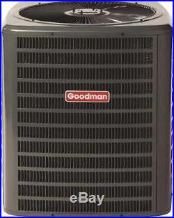 Goodman 2 Ton Gas Furnace 14 Seer Split System AC 80% AFUE Horizontal 60000 BTU