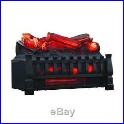 Hampton Bay Blaise 20 In Infrared Quartz Electric Fireplace Log Set