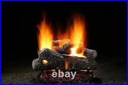 Hargrove 24 Classic Oak Vented Gas Log Set With Manual Saftey Pilot Natural Gas