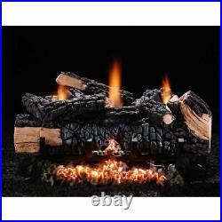Hargrove 24 Cumberland Char Vent Free Log Set Natural Gas Variable Flame