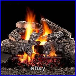 Hargrove 30-In Cross Timbers Vented Natural Gas Log SetE-Burner Match Light