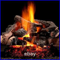Hargrove 30-In Rustic Timbers Vented Natural Gas Logs E-Burner -Match Light