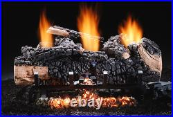 Hargrove Cumberland Char Vent Free 30 Gas Log Set Variable Flame Valve