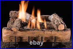 Hargrove Weathered Oak Vent Free 24 Gas Log Set Manual Valve