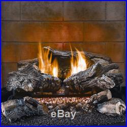 HearthSense Gas Firplace Log Set Propane 24in, 34,000 BTU, Model# VF24LA-1B