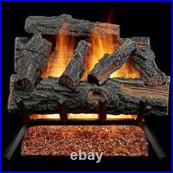 HearthSense Vented Natural Gas Log Set 18-Inch 45,000 BTU Match Light Mountain