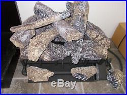 Heat n' Glo GO24-IPI-NG Vented Natural Gas Burner with Grand Oak Log Set (132768)