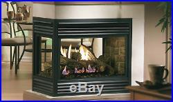 Kingsman MDV31 Multi-Sided Direct Vent Natural Gas Fireplace with Oak Log Set