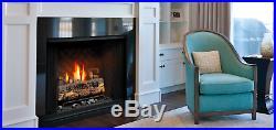 Kingsman ZVFC47 Zero Clearance Vent Free Gas Fireplace with Log Set & Millivolt