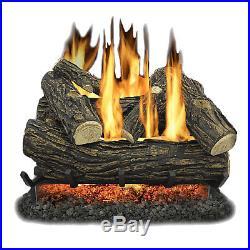 Kozy World GLV024 Vented 24 inch Natural Gas Legacy Oak Log Set 55,000 BTUs