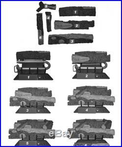 MV24VFMLP 39,000 BTU Vent-Free Propane Gas 24 Log Fireplace Insert withThermostat