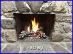 Majestic Duzy 2 Ceramic Gas Fireplace Log Set BARELY USED Fully functioning
