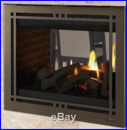 Majestic Pearl II 36 See-Through Direct Vent Gas Fireplace with Ceramic Fiber Logs