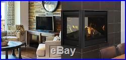 Majestic Pearl II Peninsula 36 Multi-Sided Direct Vent Gas Fireplace with Log Set