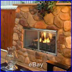 Majestic Villa Gas Outdoor Fireplace 36 NG ODVILLAG-36T 40,000 BTUs Log Set