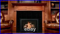 Mendota FV44i Full View Gas Fireplace Insert with Log-set and surround