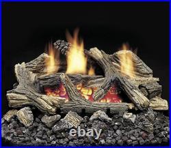 Monessen Vent Free Gas Log 20 Propane Aged Hickory DEB20PV Remote Ready