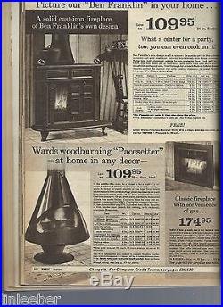 Montgomery Wards Pacesetter Freestanding Cone Stove/FireplaceElectric/Gas Logs